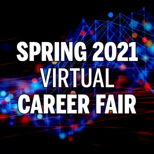 The Spring Career Fair was a virtual event.